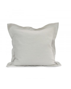 LINEN CUSHION COVER/LIGHT GRAY