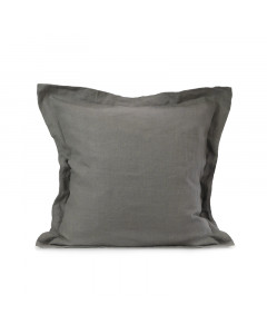 LINEN CUSHION COVER/CHARCOAL GRAY