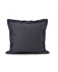 LINEN CUSHION COVER/PURPLE CHARCOAL