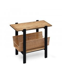 RATTAN SIDE TABLE BK