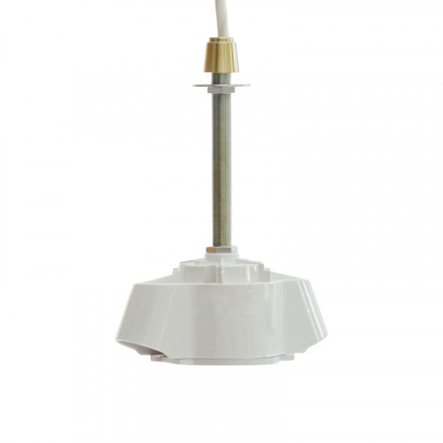 2 LIGHT SOCKET WH BRASS NP125 100CM