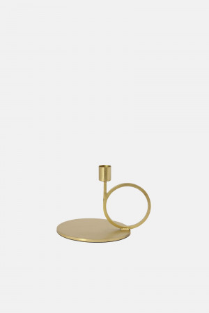 BRASS CANDLE HOLDER/CIRCLE