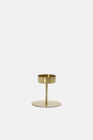 BRASS CANDLE HOLDER/WIDE