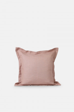 LINEN CUSHION COVER/WOOD ROSE
