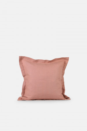 LINEN CUSHION COVER/RUST PINK